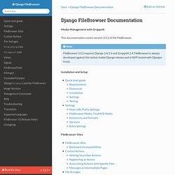 Django FileBrowser Documentation — Django FileBrowser 3.5.2 documentation