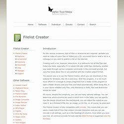 Filelist Creator