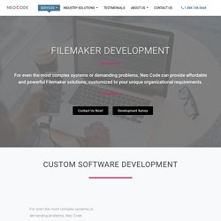 FileMaker Development Solutions For Small Business