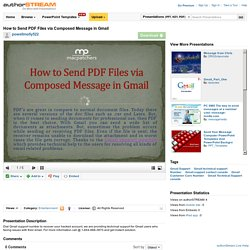 How to Send PDF Files Via Composed Message in Gmail