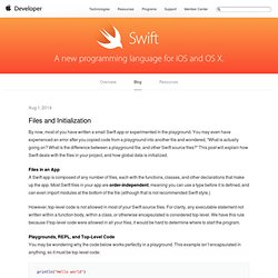 Files and Initialization - Swift Blog
