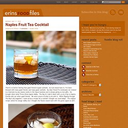 Naples Fruit Tea Cocktail