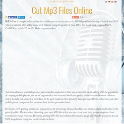 Cut MP3 Files Online - Ringtone Maker