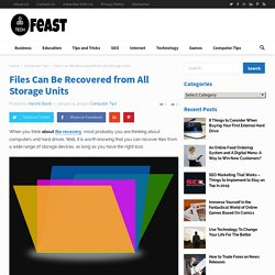 Files Can Be Recovered from All Storage Units