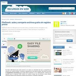 FileSnack: sube y comparte archivos gratis sin registro previo