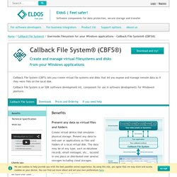 Usermode filesystem for your Windows applications - Callback File System® (CBFS®)