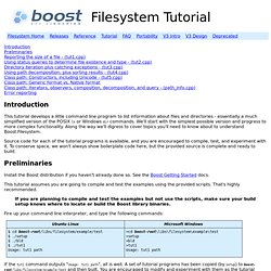 Filesystem Tutorial