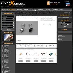 Bride avec filetage M8 pour compteur coté gauche, couleur noire pour guidon diamètre 22mm. - Evo X Racing
