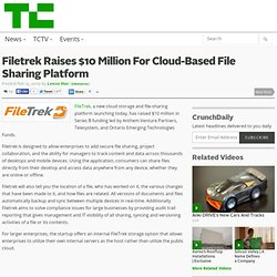 Filetrek Raises $10 Million For Cloud-Based File Sharing Platform