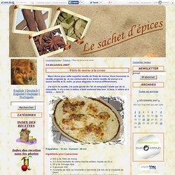 Filets de morue à la crème