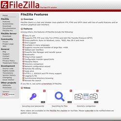 FileZilla - Client Features