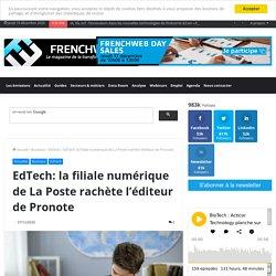 EdTech: la filiale numérique de La Poste rachète l'éditeur de Pronote