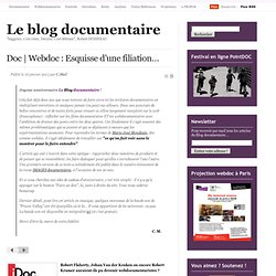 Doc | Webdoc : Esquisse d'une filiation…