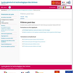 Filières post-bac - Filières post-bac - LYCEE GENERAL ET TECHNOLOGIQUE DES ARENES JPO 23/01/2021 9h-15h