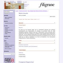 Buttes témoins (Revue Filigrane — Musique, esthétique, sciences, société)