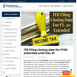 ITR filing closing date for FY20 extended until Dec 31