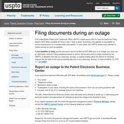 Filing documents during an outage