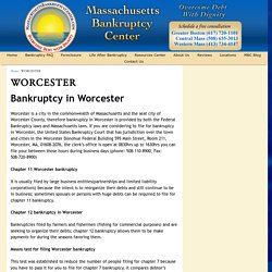 All about Filing Worcester Bankruptcy