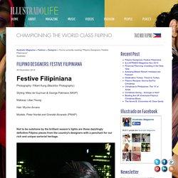 Filipino Designers: Festive Filipiniana