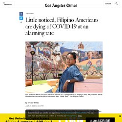 Filipino Americans are dying of COVID at an alarming rate