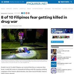 8 of 10 Filipinos fear getting killed in drug war