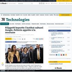 Filippetti boycotte l'institut culturel Google, Pellerin appelée à la rescousse