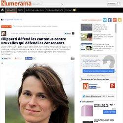 Filippetti défend les contenus contre Bruxelles qui défend les contenants