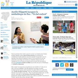 """Aurélie Filippetti inaugure la médiathèque de Pau : """"Un bel endroit"""""""