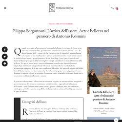 Filippo Bergonzoni, L'artista dell'essere. Arte e bellezza in Antonio Rosmini