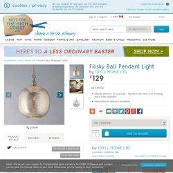 filisky ball pendant light by idyll home ltd