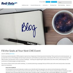 Fill the Seats at Your Next CME Event