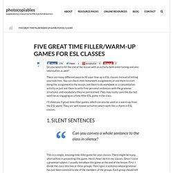 Five Great Time Filler/Warm-up Games for ESL Classes