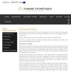 Dermal Fillers In Sydney - D'Lumiere Esthetique Clinic