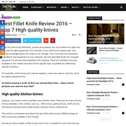 Best Fillet Knife Review 2016 - Top 7 High quality knives
