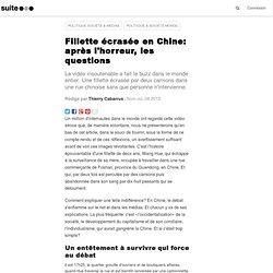 Fillette écrasée en Chine: après l'horreur, les questions