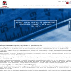 The Right Lead Filling Company Produces Precise Results
