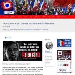 Fillon continue de sombrer, cela sent une finale Marine-Macron