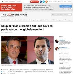 En quoi Fillon et Hamon ont tous deux en partie raison… et globalement tort
