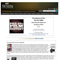 Film History Before 1920
