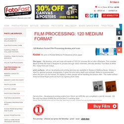 Film Processing 120 Medium Format
