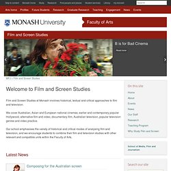 Film and Television Studies, Arts, Monash University
