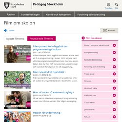 Film om skolan - Pedagog Stockholm