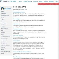 Film Study Lesson Plans