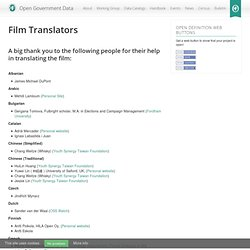 Film « Open Government Data