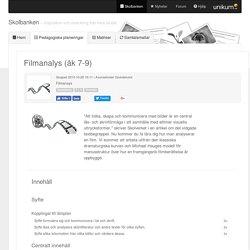 Filmanalys (åk 7-9)