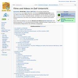 Filme und Videos im DaF-Unterricht