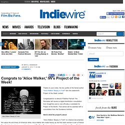 Congrats to 'Alice Walker,' IW's Project of the Week!