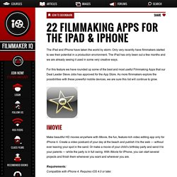 22 Filmmaking Apps for the iPad & iPhone