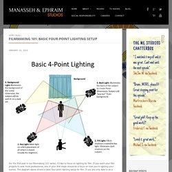 Filmmaking 101: Basic Four-Point Lighting Setup