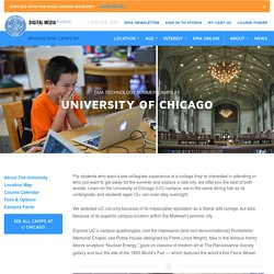 Animation, Filmmaking, Programming Courses at University of Chicago